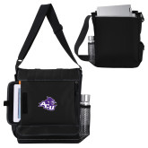 ACU Wildcat Impact Vertical Black Computer Messenger Bag-Angled ACU w/Wildcat Head, Personalized