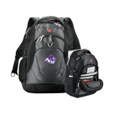 Wenger Swiss Army Tech Charcoal Compu Backpack-Angled ACU w/Wildcat Head