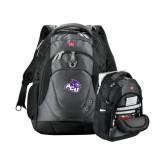 ACU Wildcat Wenger Swiss Army Tech Charcoal Compu Backpack-Angled ACU w/Wildcat Head