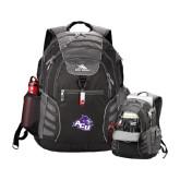 ACU Wildcat High Sierra Big Wig Black Compu Backpack-Angled ACU w/Wildcat Head