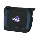 Excel Black/Blue Saddle Brief-Angled ACU w/Wildcat Head