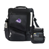 Momentum Black Computer Messenger Bag-Angled ACU w/Wildcat Head