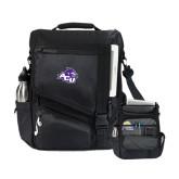ACU Wildcat Momentum Black Computer Messenger Bag-Angled ACU w/Wildcat Head