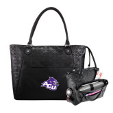 Sophia Checkpoint Friendly Black Compu Tote-Angled ACU w/Wildcat Head
