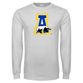 White Long Sleeve T Shirt-A-bear