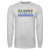 White Long Sleeve T Shirt-Swimming