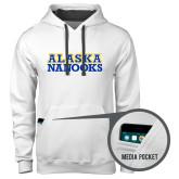 Contemporary Sofspun White Hoodie-Alaska Nanooks