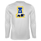 Performance White Longsleeve Shirt-A-bear