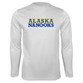 Performance White Longsleeve Shirt-Alaska Nanooks
