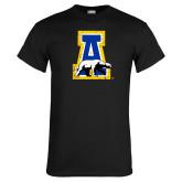 Black T Shirt-A-bear Distressed