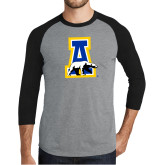 Grey/Black Tri Blend Baseball Raglan-A-bear