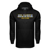 Under Armour Black Performance Sweats Team Hoodie-Skiing