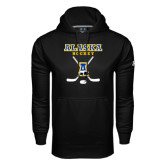 Under Armour Black Performance Sweats Team Hoodie-Alaska Hockey Crossed Sticks