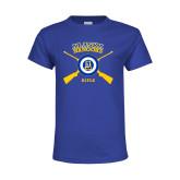 Youth Royal T Shirt-Alaska Nanooks Rifle