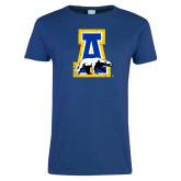 Ladies Royal T Shirt-A-bear Distressed
