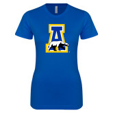 Next Level Ladies SoftStyle Junior Fitted Royal Tee-A-bear