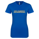 Next Level Ladies SoftStyle Junior Fitted Royal Tee-Alaska Word Mark