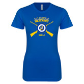 Next Level Ladies SoftStyle Junior Fitted Royal Tee-Alaska Nanooks Rifle