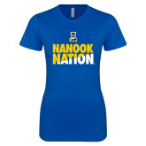 Next Level Ladies SoftStyle Junior Fitted Royal Tee-Nanook Nation