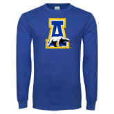 Royal Long Sleeve T Shirt-A-bear Distressed
