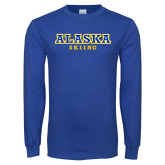 Royal Long Sleeve T Shirt-Skiing
