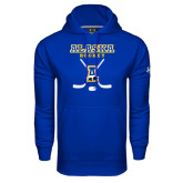 Under Armour Royal Performance Sweats Team Hoodie-Alaska Hockey Crossed Sticks