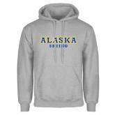 Grey Fleece Hoodie-Skiing