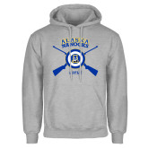 Grey Fleece Hoodie-Alaska Nanooks Rifle