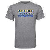 Grey T Shirt-Swimming