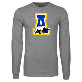 Grey Long Sleeve T Shirt-A-bear