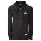 Ladies Under Armour Black Varsity Full Zip Hoodie-A-bear