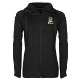 Ladies Sport Wick Stretch Full Zip Black Jacket-A-bear