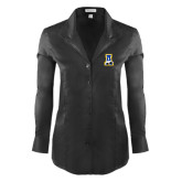 Ladies Red House Black Herringbone Non Iron Long Sleeve Shirt-A-bear