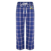 Royal/White Flannel Pajama Pant-A-bear