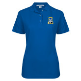 Ladies Easycare Royal Pique Polo-A-bear