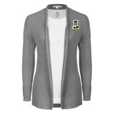 Ladies Heather Grey Open Front Cardigan-A-bear
