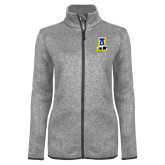 Grey Heather Ladies Fleece Jacket-A-bear