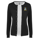 Ladies Black Cardigan-A-bear