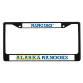 Metal License Plate Frame in Black-Nanooks