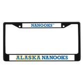 Metal License Plate Frame in Black-Nanooks