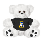 Plush Big Paw 8 1/2 inch White Bear w/Black Shirt-A-bear