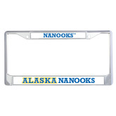 Metal License Plate Frame in Chrome-Nanooks