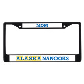 Mom Metal License Plate Frame in Black-Mom
