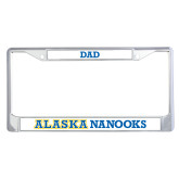 Dad Metal License Plate Frame in Chrome-Dad