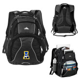 High Sierra Swerve Black Compu Backpack-A-bear