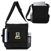 Impact Vertical Black Computer Messenger Bag-A-bear
