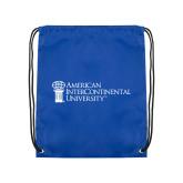 Royal Drawstring Backpack-American Intercontinental University