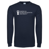 Navy Long Sleeve T Shirt-American Intercontinental University