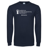 Navy Long Sleeve T Shirt-Admissions
