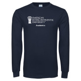 Navy Long Sleeve T Shirt-Academics